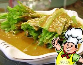 芝麻酱拌生菜的做法