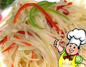 青红椒土豆丝的做法
