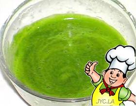 菜叶汁的做法