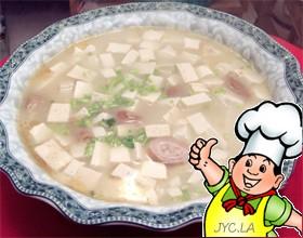 豆腐炖大肠的做法