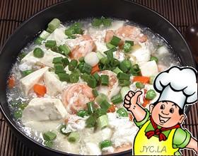 炖明虾豆腐的做法