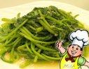 炒菊花菜的做法