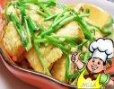 豆腐炒韭菜的做法