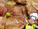 煎羊排带配菜的做法