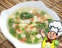 红白豆腐羹的做法