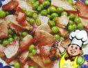 豌豆炒腊肉的做法