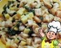 荠菜炒鸡丁的做法