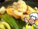 虾仁扒油菜的做法