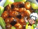 草菇炒油菜的做法