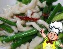 蒜苔熘鸡丝的做法