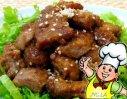 煎五香里脊肉的做法